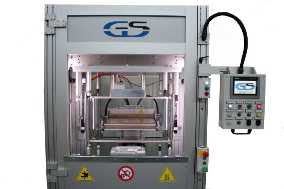bivalent hot plate/infrared welding machine for wide surfaces GS-041