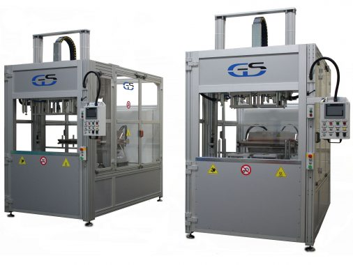 two bivalent hot plate/infrared welding machines for wide surfaces GS-042