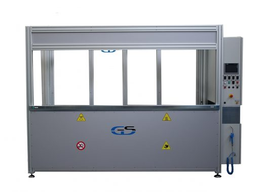 machine with interchangeable fixture GS-014-TCA with fixed control panel