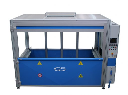 machine with interchangeable fixture GS-014-TCA