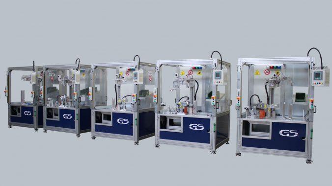 Linie von Maschinen mit austauschbarer Ausrüstung für das Spiegelschweißen