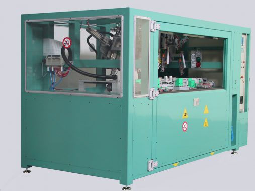 machine for drilling and ultrasonic welding